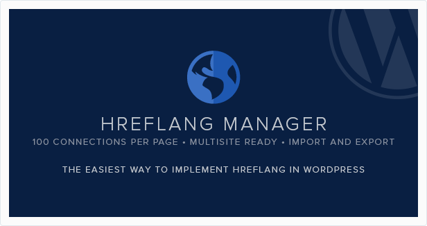 Hreflang Manager plugin for WordPress