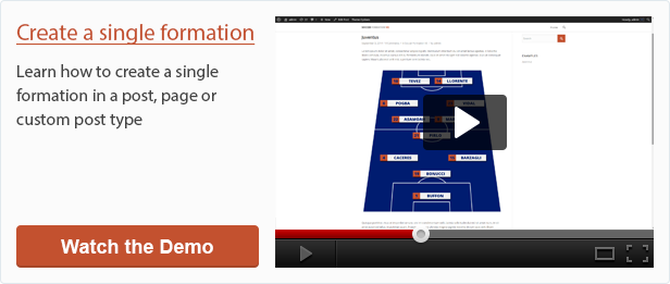 Create a single formation with Soccer Formation VE