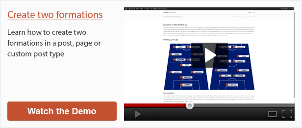 Create two formations with Soccer Formation VE