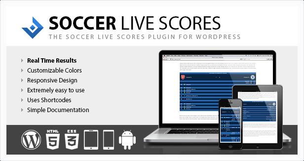 Soccer Live Scores plugin for WordPress